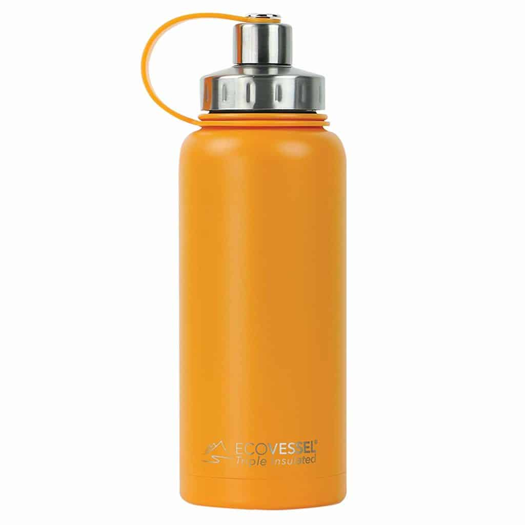EcoVessel BOULDER TriMax Vacuum Insulated Stainless Steel Water Bottle with Versatile Stainless-Steel Top